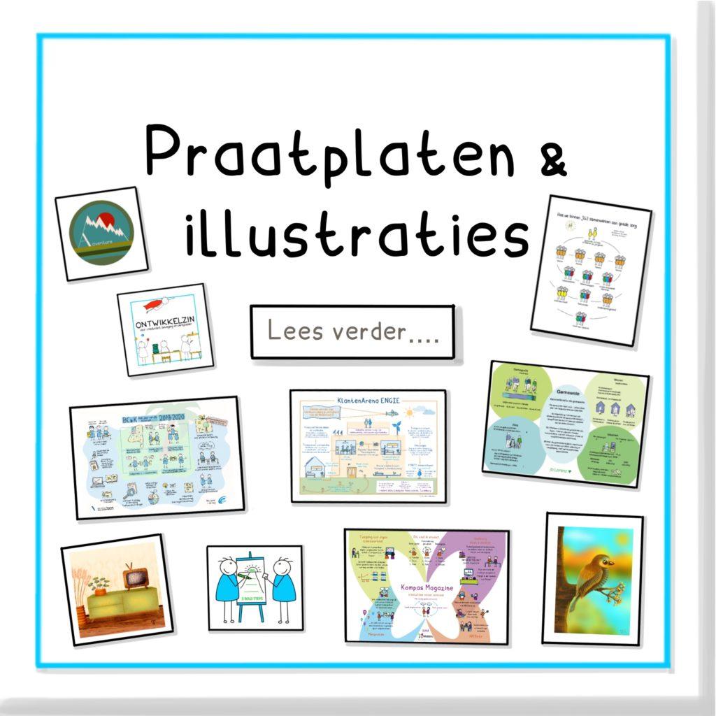 Praatplaten en illustraties